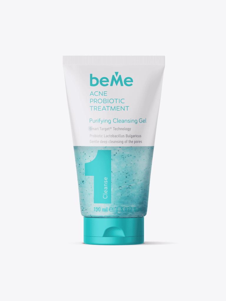 Gel beMe folosit ca tratament pentru acnee